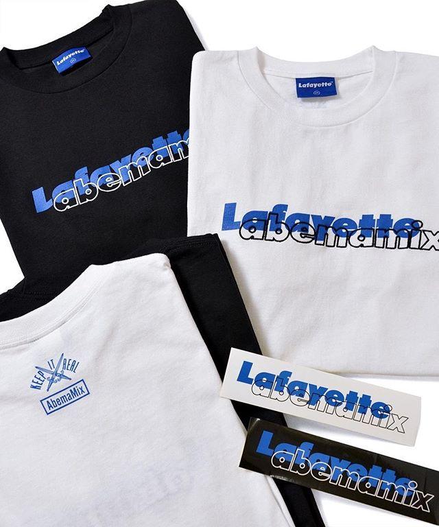 AbemaMix出演者の着用で話題となっている、 ロゴTEEがLafayette ONLINE STOREにて受注会開催中 締め切り迫ってきておりますのでお見逃しなく! ・ 「AbemaMix × Lafayette」 ・ 1月14日(月)12:00 ~ 1月21日(月)12:00の期間、Lafayette Online Storeにて 「AbemaMix × Lafayette」 のコラボアイテムのオンライン受注販売を開催します。 2019年2月中旬より順次発送。 . 詳細は #Lafayette オンラインストアにて Lafayette ONLINE STORE : 0466-47-3710 @Lafayette_online_store www.lafayettecrew.jp ・ #abemamix #privilege #privilege_tyo #lafayette #lafayette_nyc #lafayettecrew