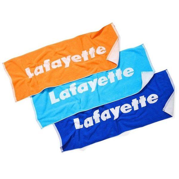 ・ 5/18(sat)発売! ・ LFT19SS066 LOGO JACQUARD SPORTS TOWEL ・ PRICE : 3,000yen +tax ・ カラー展開 : BLUE(ブルー), MINT(ミント), ORANGE(オレンジ) ・ 愛媛県今治産の高品質生地を使用した毎シーズン人気のロゴタオル。 厚手で高級感のあるジャガード織り仕様で、高い吸水性と耐久性を誇り肌触りも抜群な逸品。 アウトドアやフェス、海には欠かせないサマーシーズンの必需品で、その品質の高さからリピーターも多い定番アイテム。 ・